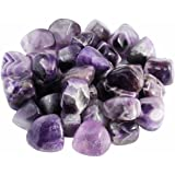 rockcloud 1 lb Tumbled Polished Stones Gemstone Supplies for Wicca,Reiki,Healing Crystal,Amethyst