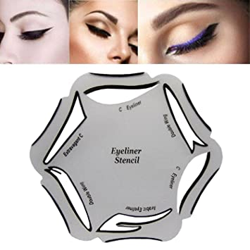 Aile Rabbit Makeup Beauty Cat Eyeliner Smokey Eye 6 Model Stencil Template Tool Multi-use Eyeliner Stencil Card: Amazon.co.uk: Beauty