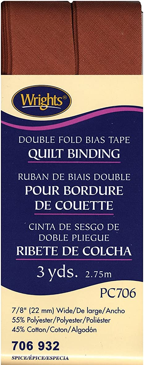 x 7//8 Canary Double Fold Quilt Binding Bias Tape 3 Yds