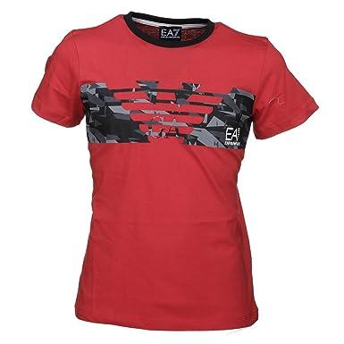 416fb8af Amazon.com: EA7 T-Shirt Emporio Armani 7 3ZTB62 EA Boys Kids Red ...