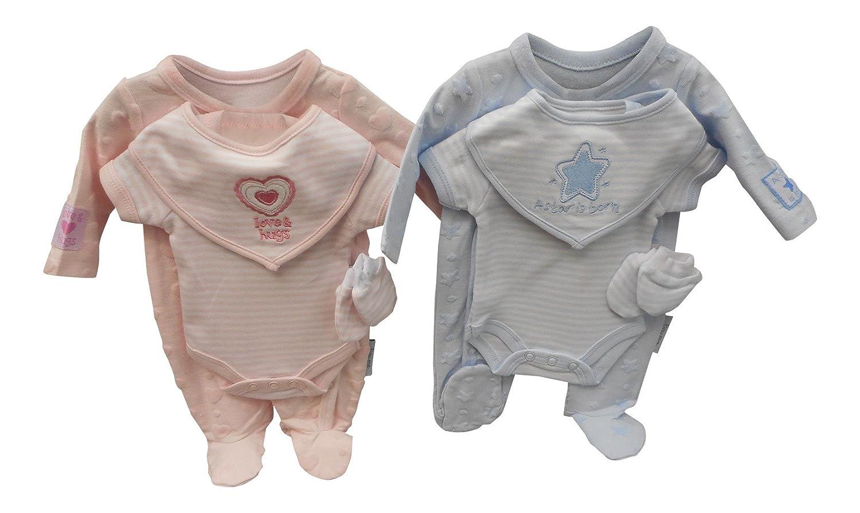 c1384d16f Premature Baby Clothes Set 4 Piece (5/8 lbs (2.3-3.6 kg), Blue):  Amazon.co.uk: Baby