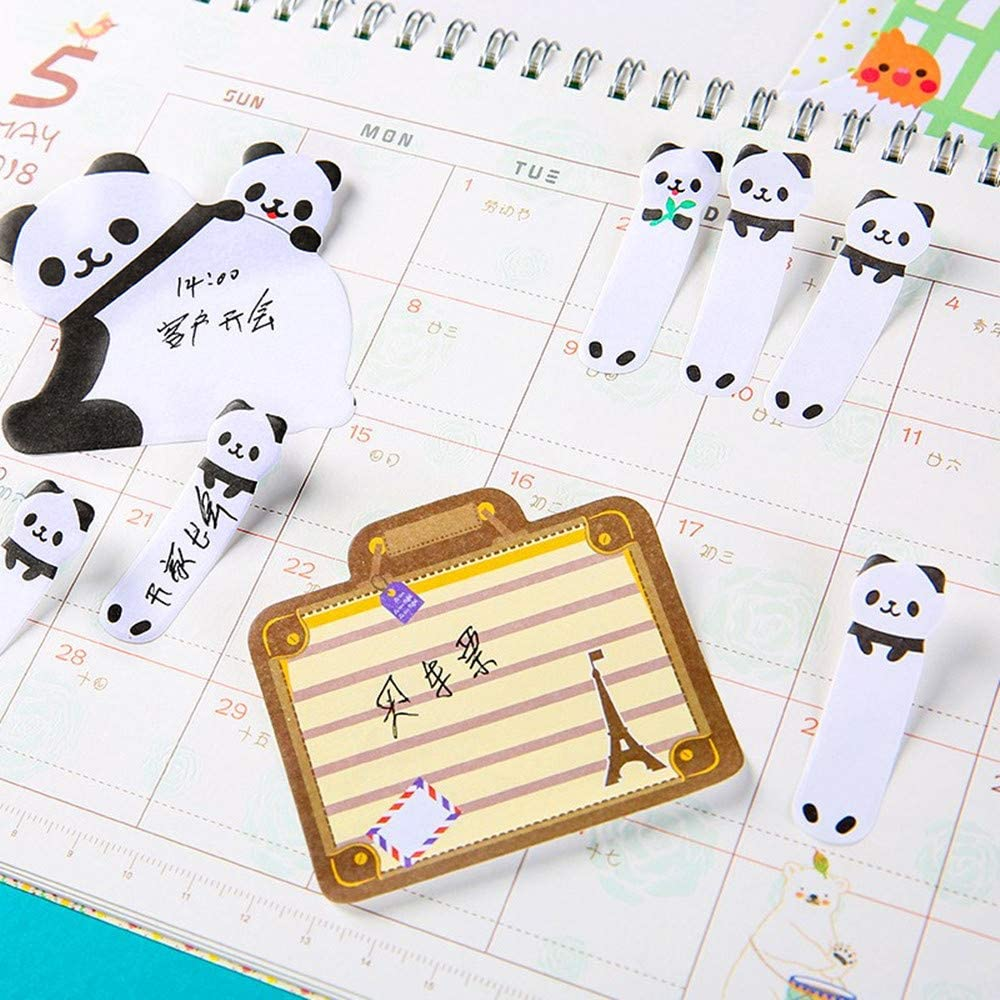 Funny live 6 Packs Stick /& Big Memo,Cute Animal Panda /& Cat Pattern Sticky Pads,2 Size Self-Stick Notes Writable Labels Page Marker,3-Pack Panda Sticker and 3-Pack Cat Sticker