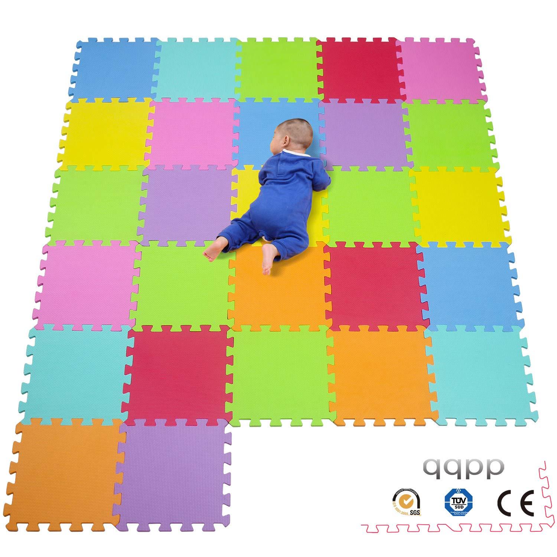 30*30*0.9cm AnimalesQQP-101114a27N. 27 Piezas qqpp Alfombra Puzzle para Ni/ños Bebe Infantil Suelo de Goma EVA Suave
