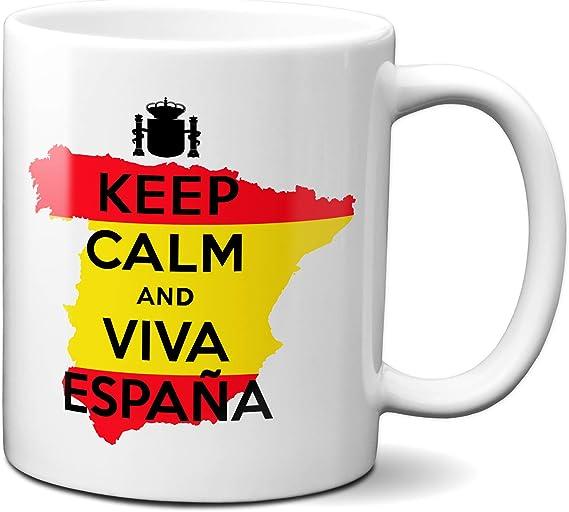 Planetacase Taza Keep Calm and Viva España Ceramica 330 mL: Amazon.es: Hogar