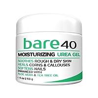 Bare Urea 40 % Percent Cream for Hands, Feet, Elbows and Knees - Corn & Callus Remover - Skin Exfoliator & Moisturiser - Repairs Thick, Callused, Dead and Dry Skin