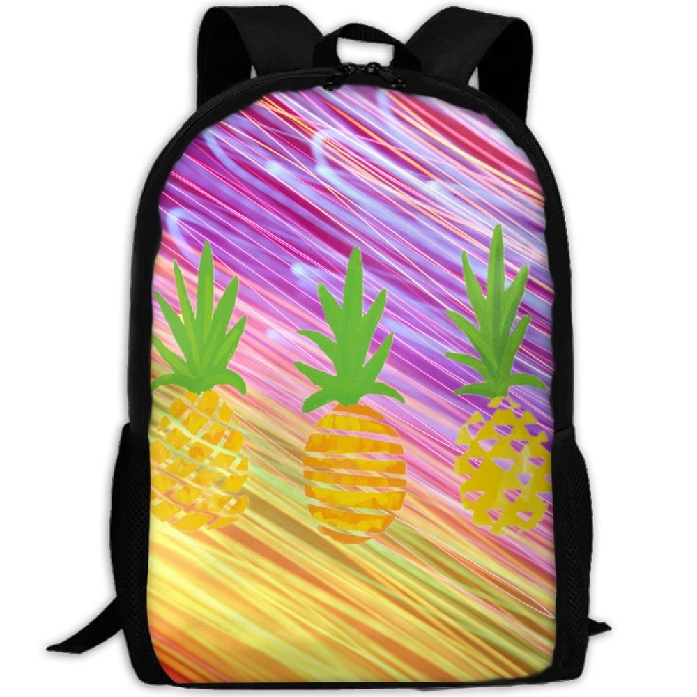 Newsqual Backpack Three Pineeaple Fashion Backpack School Bags For Unisex free shipping