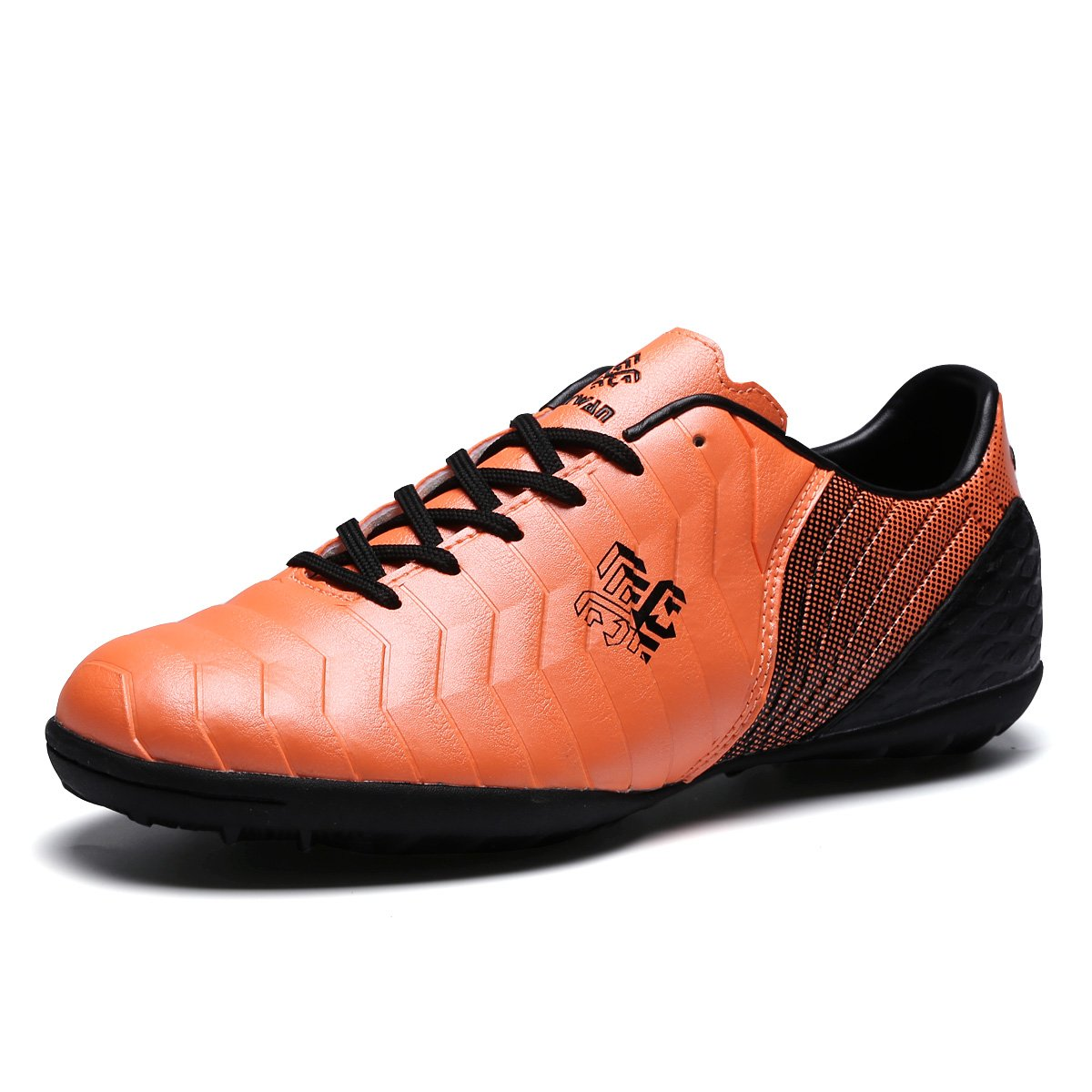 Toptak Herren Niedrig-Top Fußballschuhe Professionelle Trainers Orange Sneakers Männer