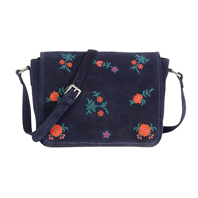 d4b9ab99d5 La Redoute Collections Donna Borsa A Tracolla In Pelle, Ricamata:  Amazon.it: Abbigliamento