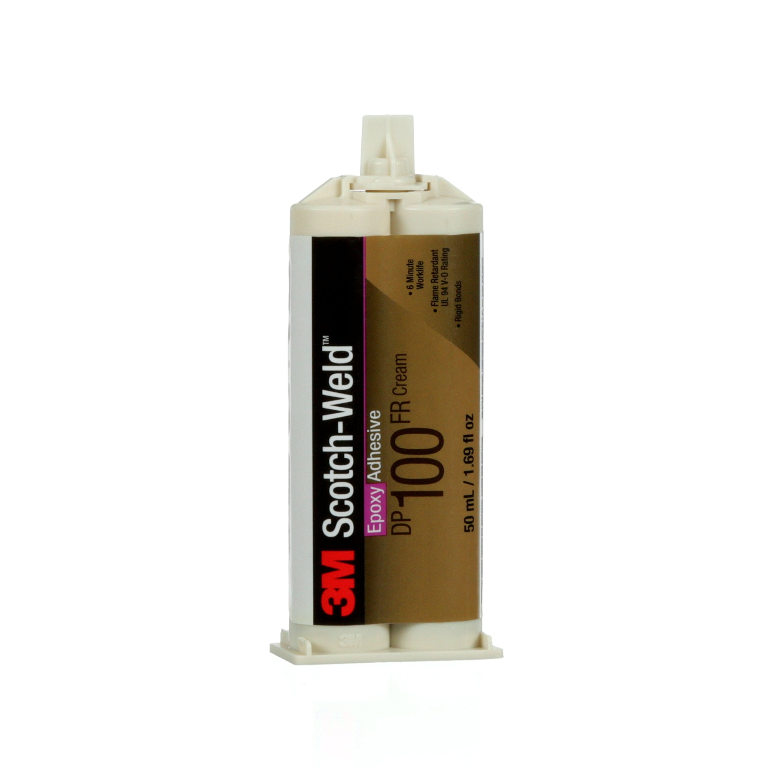 3M Scotch-Weld 56742 Epoxy Adhesive DP100 FR, 50 mL, Cream, 1.69 fl. oz.