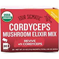 FOUR SIGMATIC Cordyceps Mushroom Elixir Mix (20 Packets), 3g