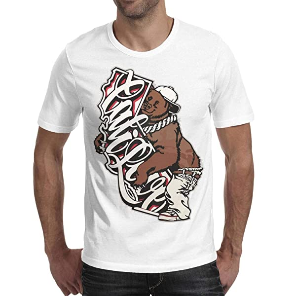 S California Bear Hug The Map Words Summer T Shirts Fashion Short Sleeve Stylish O Neck Tshirt Tees For