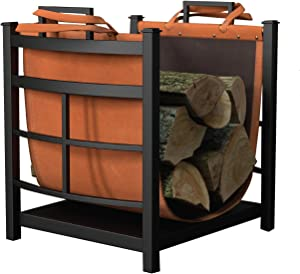 Panacea Products 15245 Mission Log Bin with Log Carrier,green