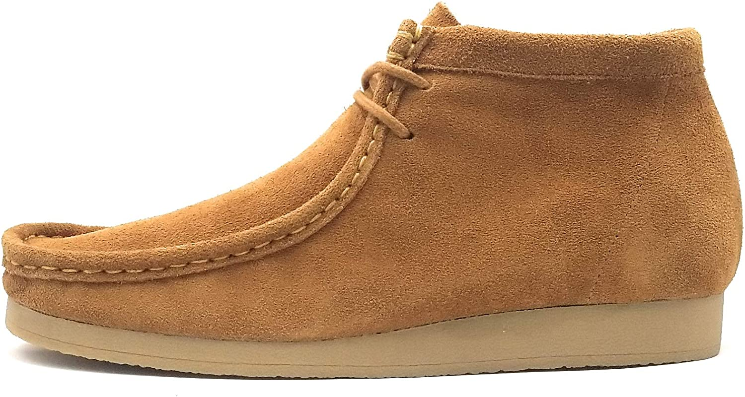 Nairobi Gold Mens Wallabee G2 Genuine Leather Lace Up Boots Moccasin Toe Chukka