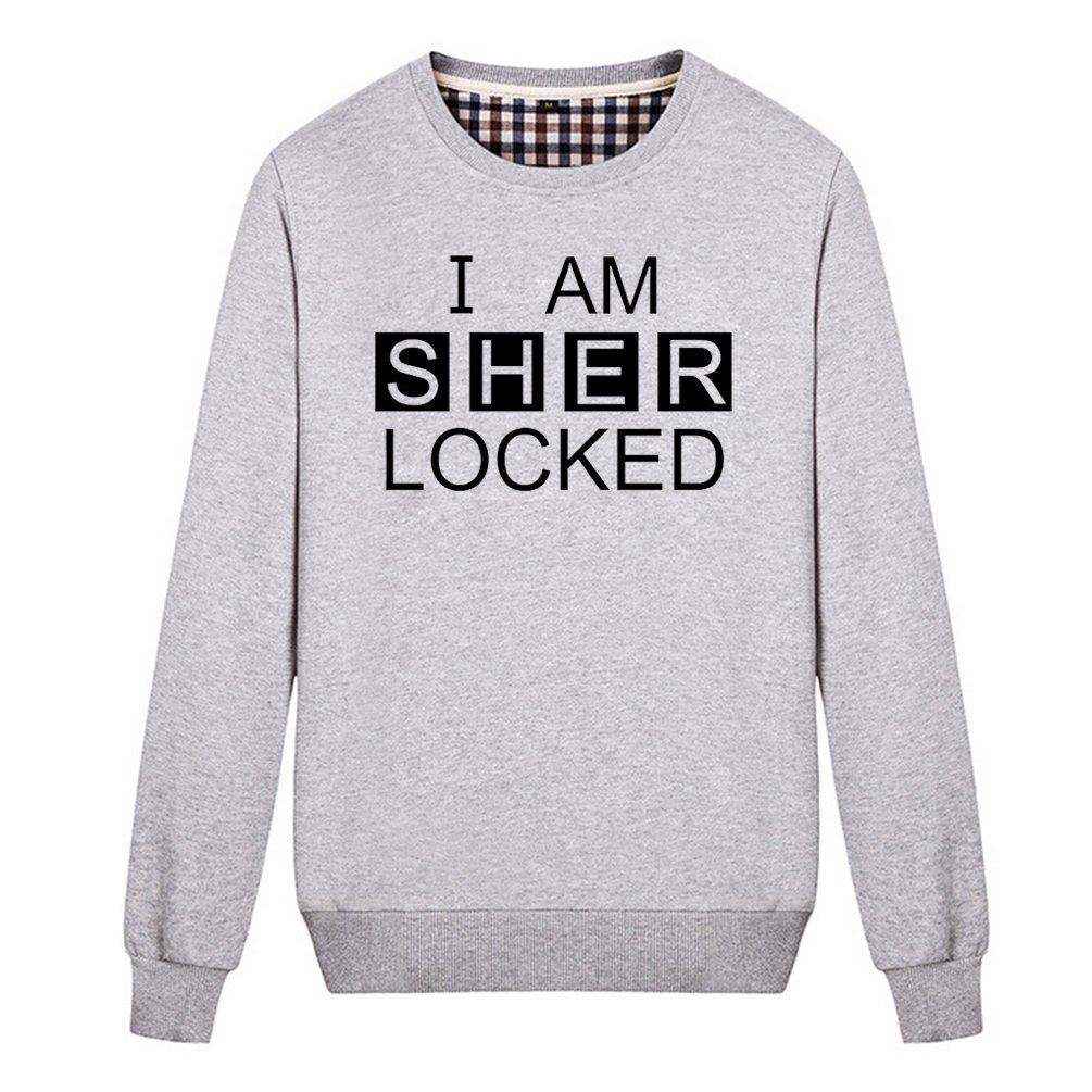 Buffaloo Unisex I Am Sherlocked Funny Lock Screen Password Sweatshirt