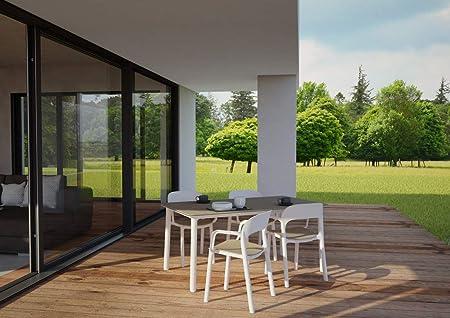 resol Mesa de jardín Exterior Rectangular Noa 160x90 - Color ...