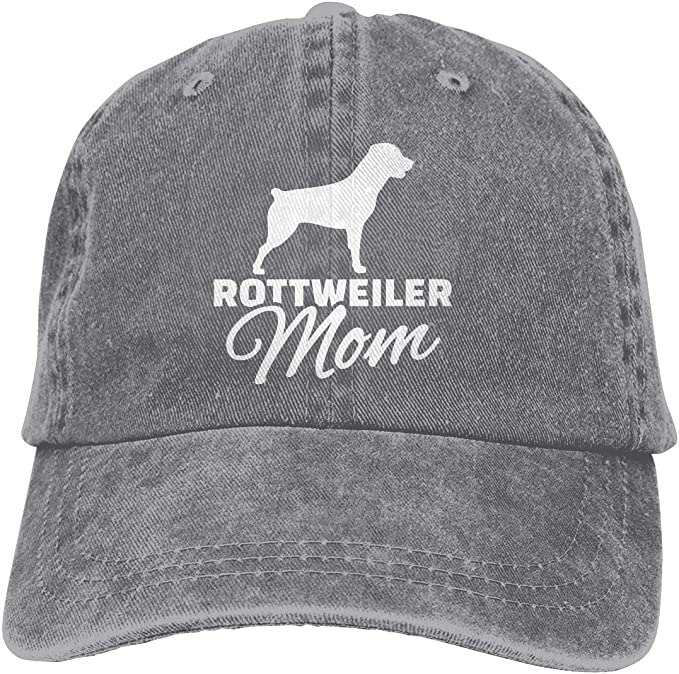 Rottweiler Fashion Adjustable Cotton Baseball Caps Trucker Driver Hat Outdoor Cap Gray
