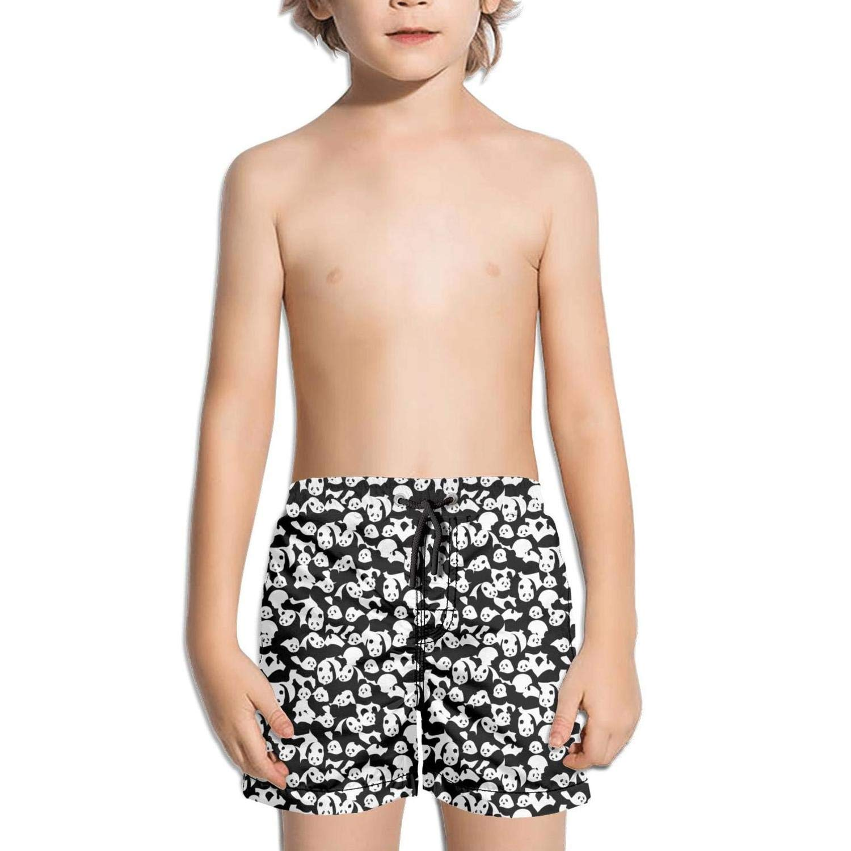 DSDRFE2DEW Swimming Trunks Pandas Baby White Background Core Shorts for Kidwith Drawstring
