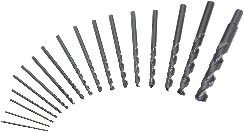 DEWALT DW1167 17-Piece Black-Oxide Split-Point Twist Drill Bit Assortment