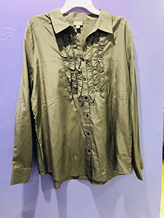2afefea81f Image Unavailable. Image not available for. Color  J.Jill Womens Button-Down  Shirt Beige SZ XL