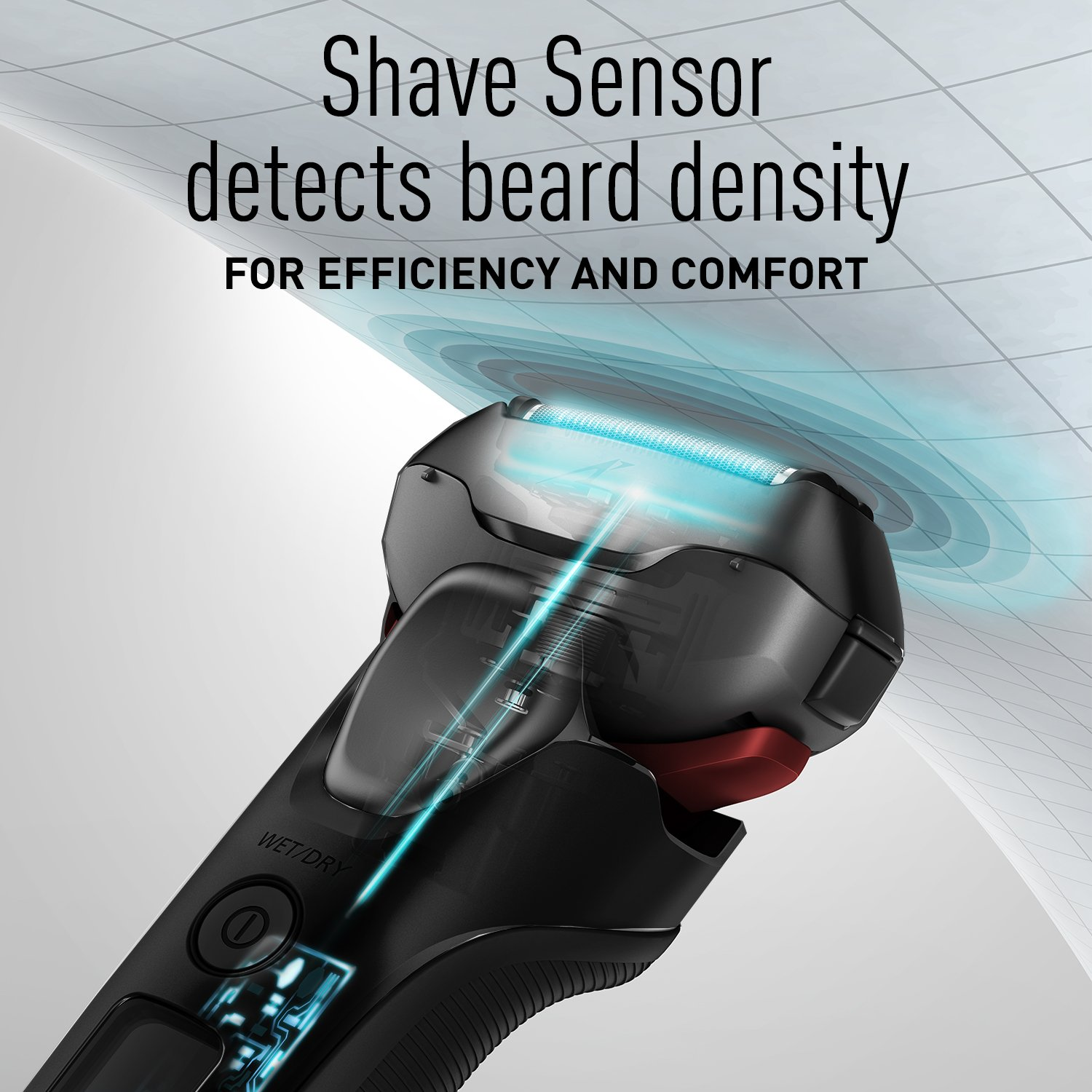 Panasonic ES-LT3N-K Arc3 3-Blade Electric Shaver with Built-In Pop-up Trimmer, Active Shave Sensor Technology and Wet Dry Operation