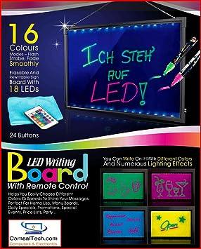 wer 16 x12 flashing illuminated erasable neon led message writing
