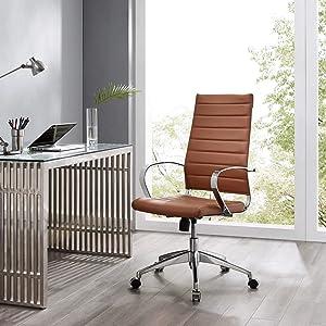 Modway Jive Highback Office Chair, Terracotta