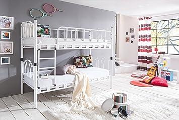 Etagenbett Teilbar Metall : Alfamo metall etagenbett diva weiß cm amazon küche