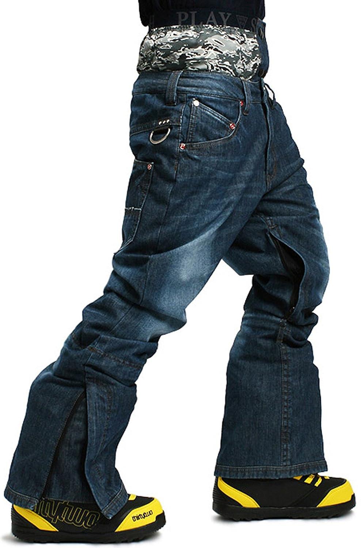 SOUTH PLAY Mens Premium Waterproof Ski SnowBoard Wear Pants Trousers BLUE JEANS