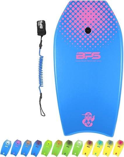 """Green /& Yellow 42/"""" Lightweight Super Bodyboard w// Leash IXPE Deck EPS Core Boar"""