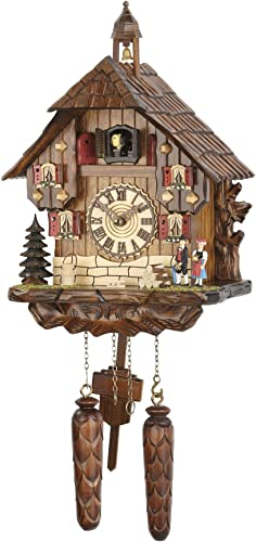 Trenkle Quartz Cuckoo Clock Black Forest House with Music TU 479 QM HZZG