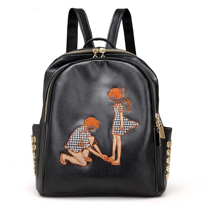 XNRHH Mochila Mochila Para Mujer Mochilas Escolares Mochilas De Viaje De Cuero Mochila Escolar,Black2-OneSize: Amazon.es: Ropa y accesorios