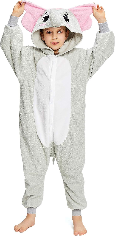 NEWCOSPLAY Unisex Children Elephant Pajamas Halloween Costume