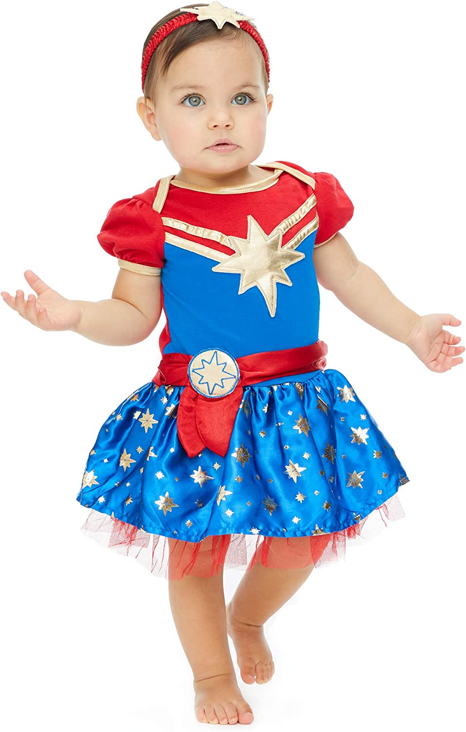 Amazon Com Captain Marvel Girls Short Sleeve Costume Dress Headband Superhero Cosplay Clothing From captain america and spiderman to hulk and wolverine, we have what you're looking for. captain marvel girls short sleeve costume dress headband superhero cosplay
