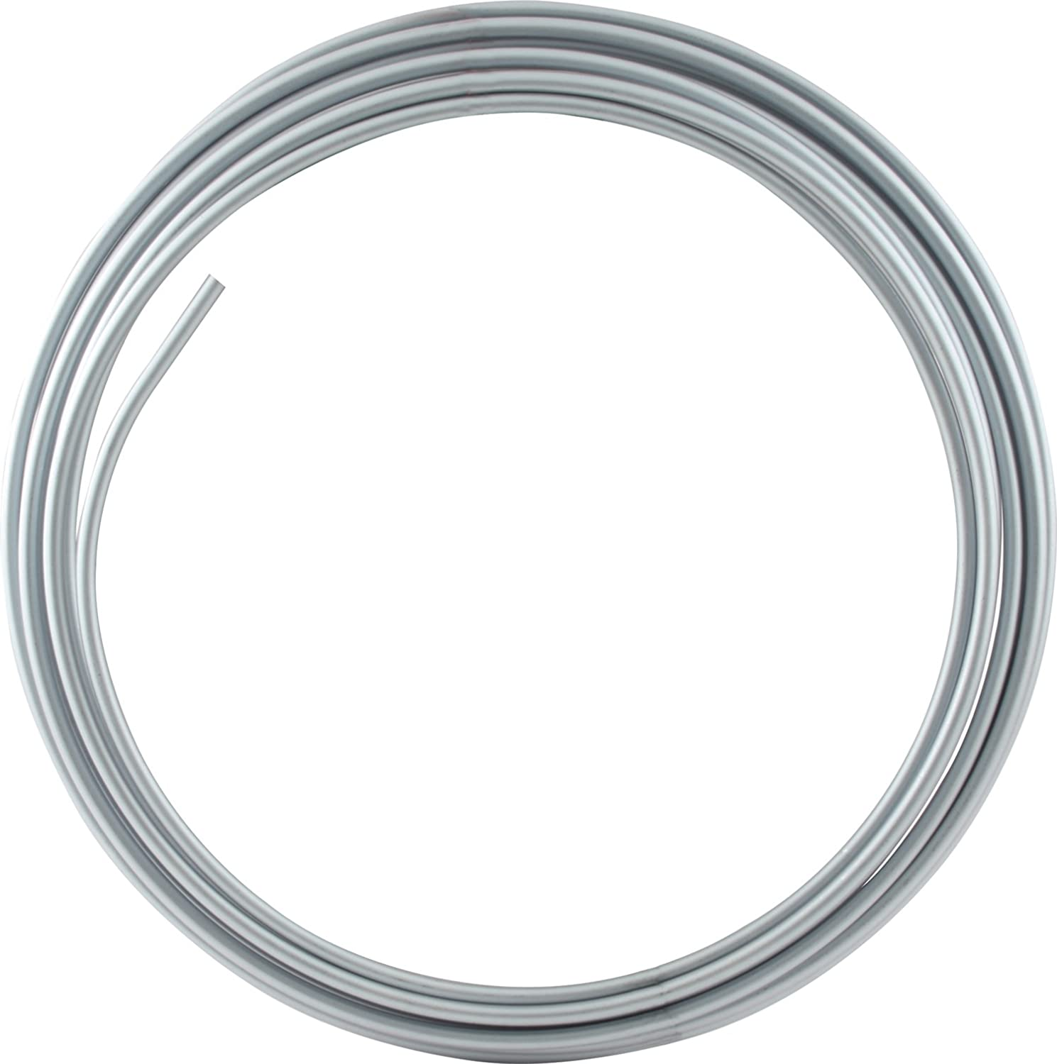 Allstar ALL48328 25' 3/8' Diameter Zinc Plated Stainless Steel Coiled Tubing Fuel Line