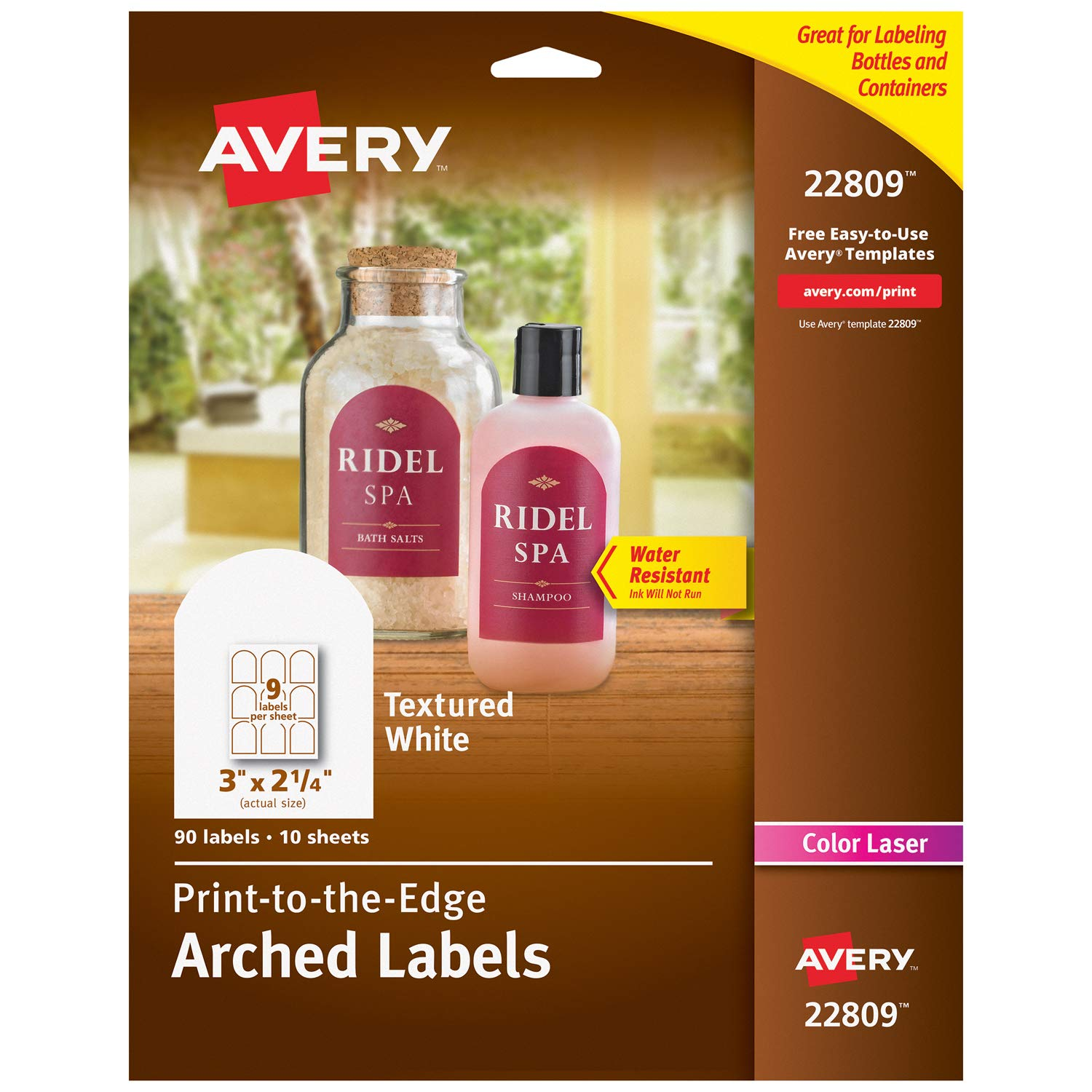 Avery Arched Labels for Laser Printers