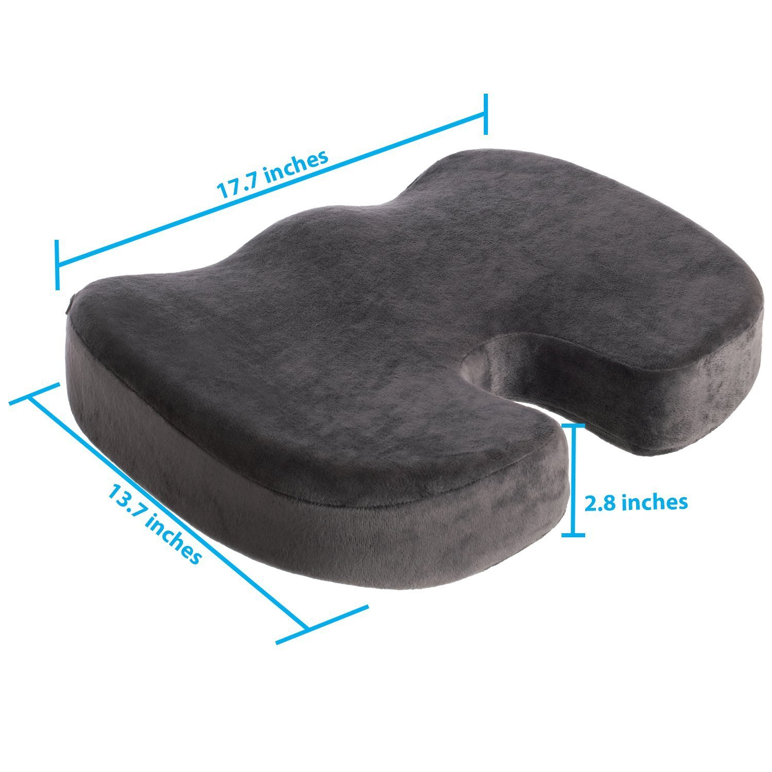 amazon com naturawell orthopedic comfort seat cushion gray
