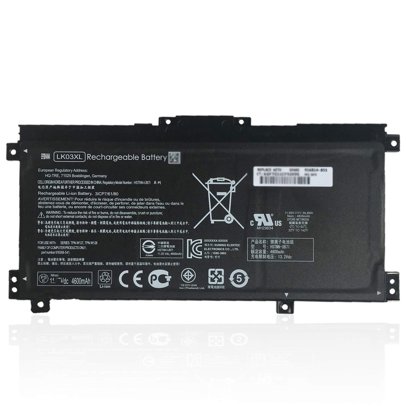 Bateria LK03XL para HP Envy 17M X360 15-BP000 BP001TX BP012D