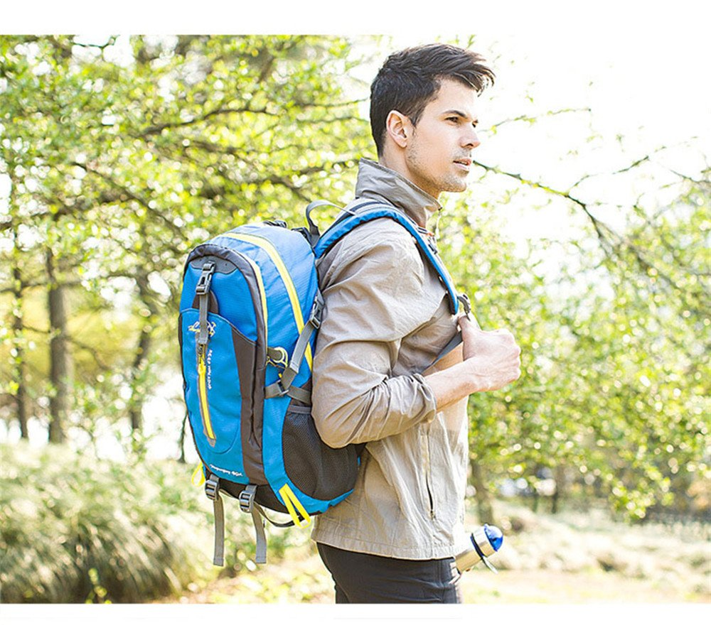 L*H*W Wewod 40L Hombre y Mujer Mochilas de Senderismo al Aire Libre de Nylon Impermeable Mochilas Monta/ña Mochila de Viaje Para Trekking Camping Deporte 33 x 50 x 20 cm
