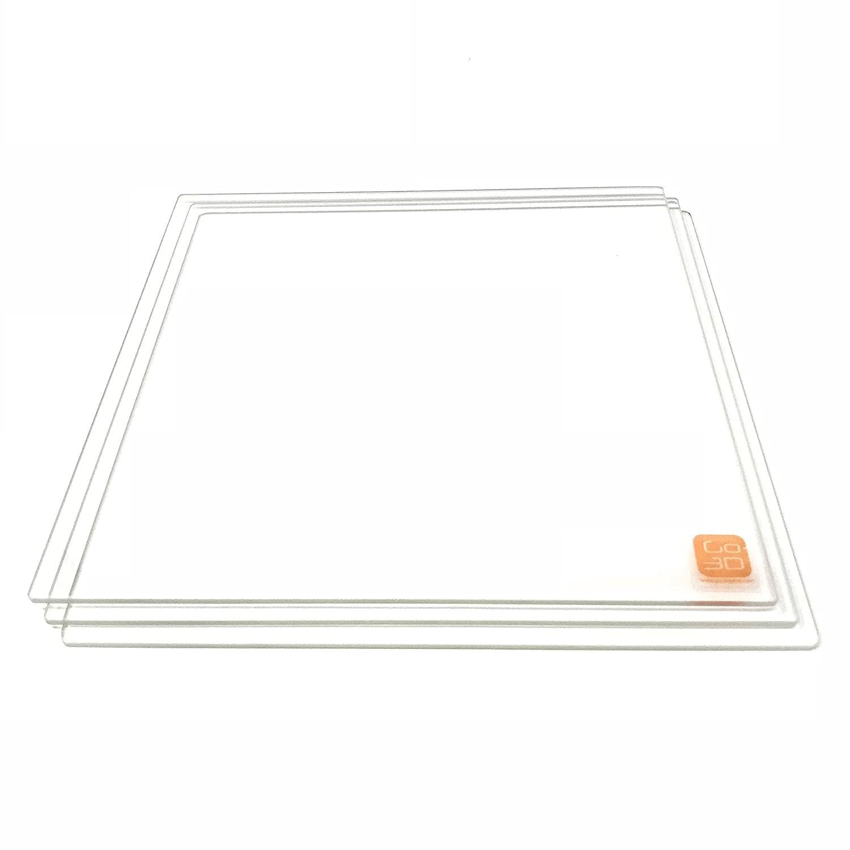220 mm x 220 mm, placa de cristal de borosilicato/cama W ...