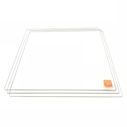 Placa de vidrio de borosilicato de 300 mm x 300 mm con borde ...