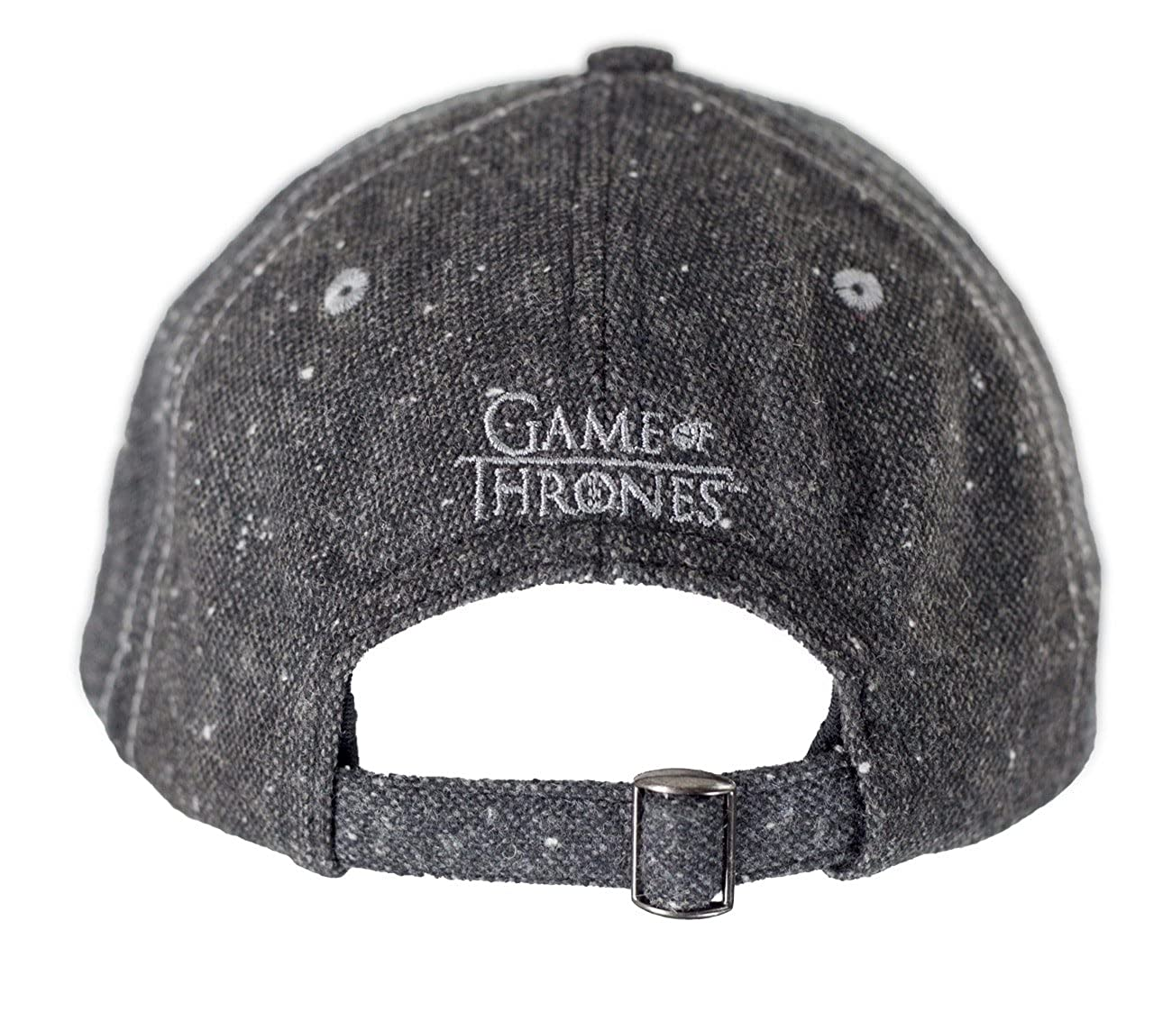 3c99b8da926 Amazon.com  Game of Thrones Flecked Fabric Premium Baseball Hat (Stark)   Clothing