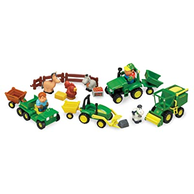 TOMY John Deere 1st Farming Fun, Fun on The Farm Playset: Toys & Games