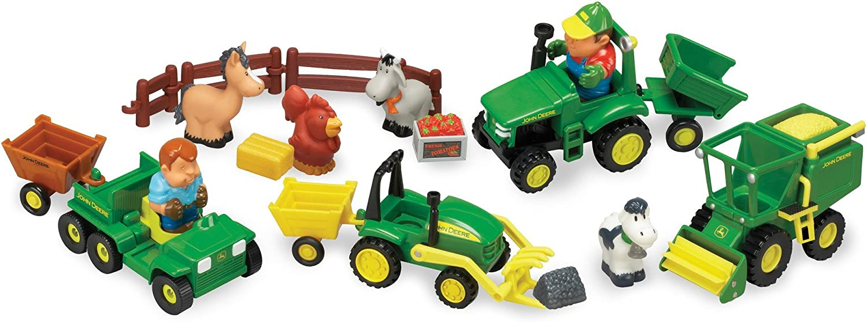 JOHN DEERE Toys Harvesting Set Toy NEW in Box