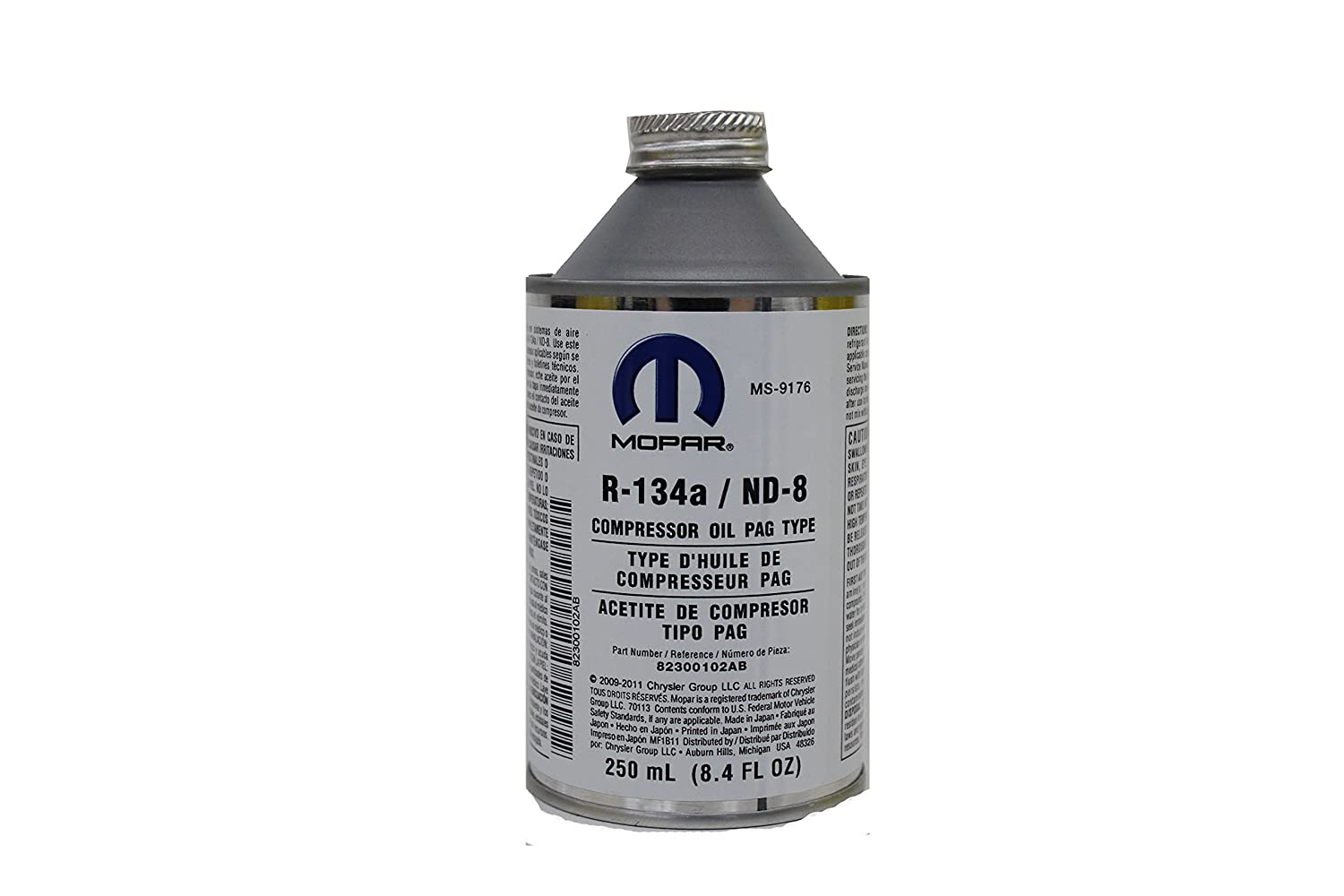 Genuine Chrysler Accessories (82300102AB) R-134a PAG Type Compressor Oil - 250 ml Can 68224150AA