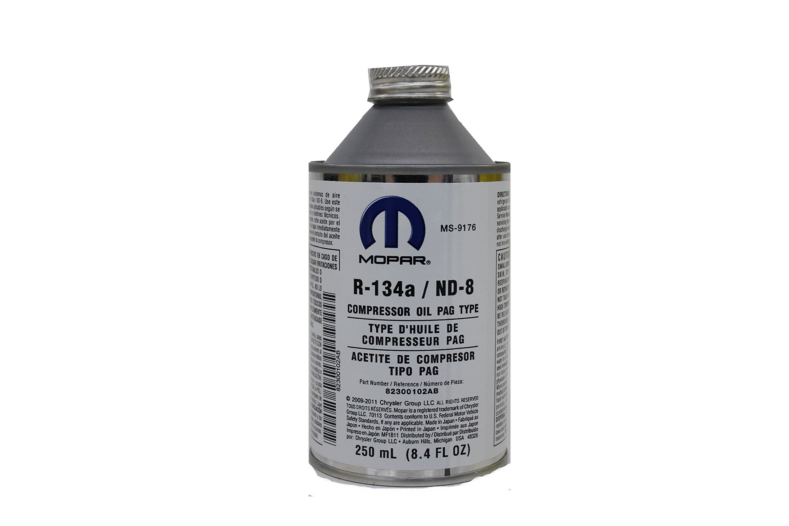 Chrysler Genuine Accessories (82300102AB) R-134a PAG Type Compressor Oil - 250 ml Can