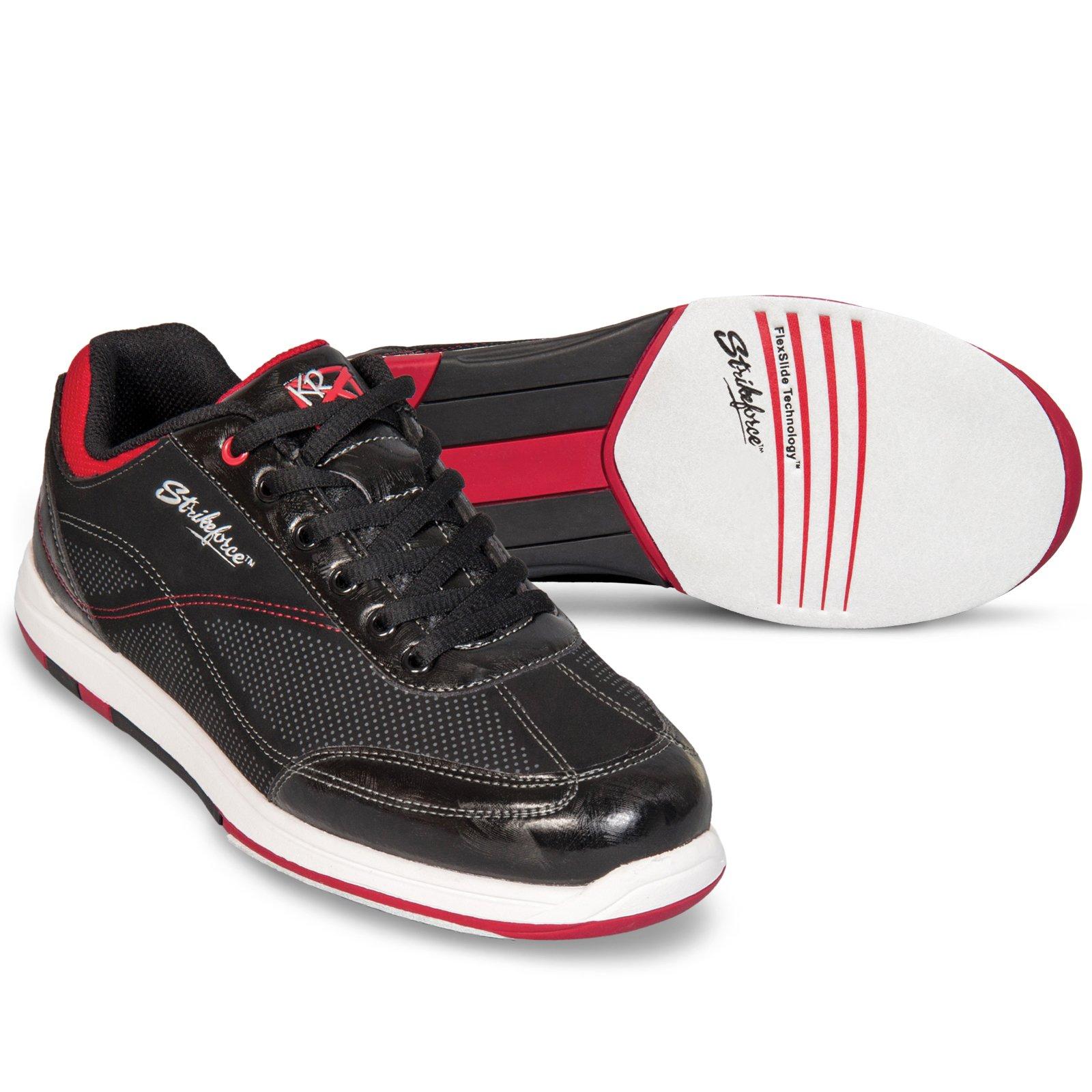 KR Strikeforce M-037-070 Titan Bowling Shoes, Black/Salsa, Size 7