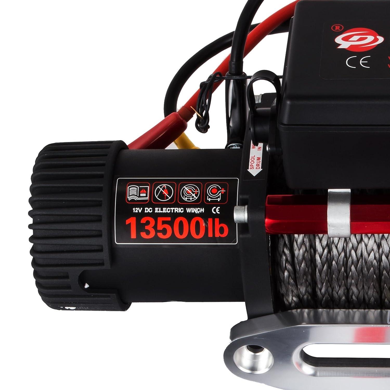 6000LBS MosaicAL 12V Electric Winch ATV Recovery Winch 2721KG 6000LBS Electric ATV Recovery Winch Rope with Remote Control for ATV UTV