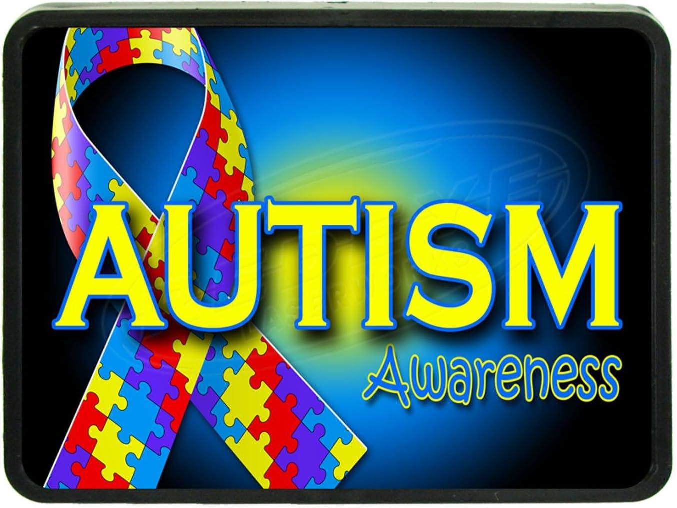 Redeye Laserworks Autism Awareness 2 Hitch Plug
