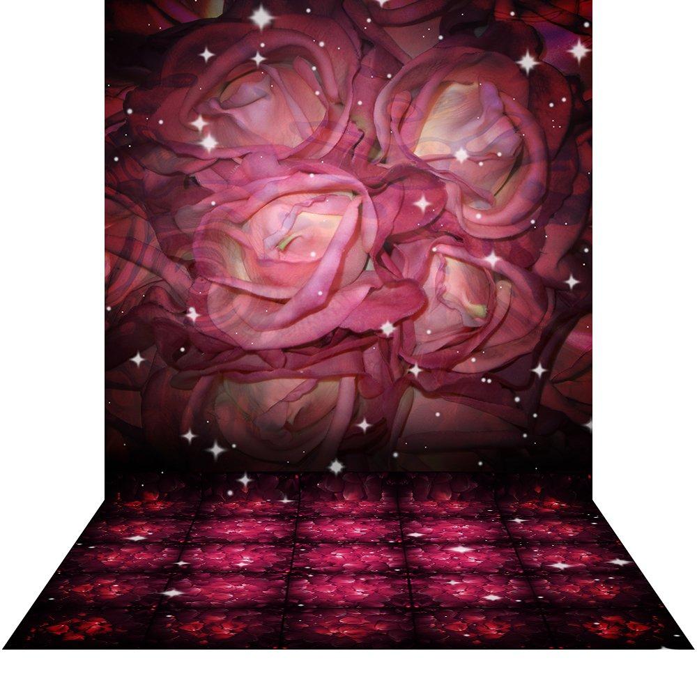 写真バックドロップwith床 – Roses – 10 x 20 ft。シームレスなファブリック   B00P6RYQZ2