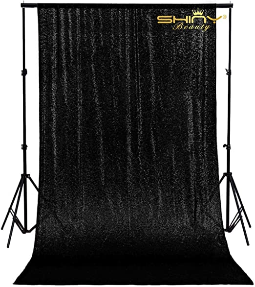 2ftx7ft Sequin Backdrop Sparkly Photo Background Curtain for Wedding Party Decor